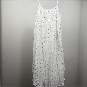 LOFT Cotton Gauze Polka Dot Maxi Dress
